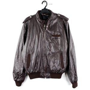 Vintage 90s Members Only Leather Bomber Jacket